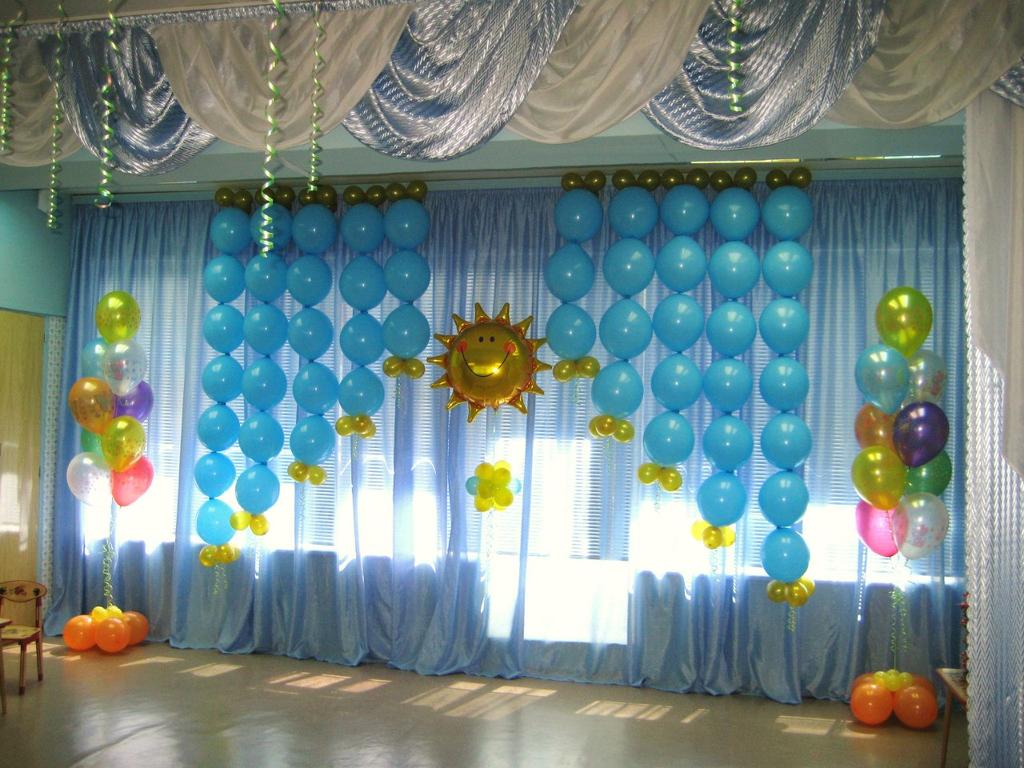 Оформление зала к выпускному своими руками фото 853